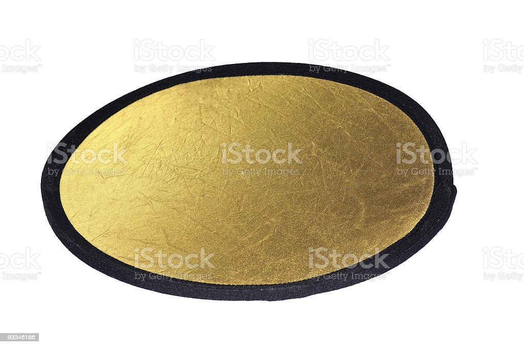 Gold Photo Reflector royalty-free stock photo