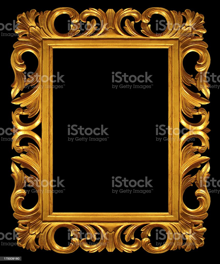 gold picture frame. isolated on backgrounds royalty-free stock photo