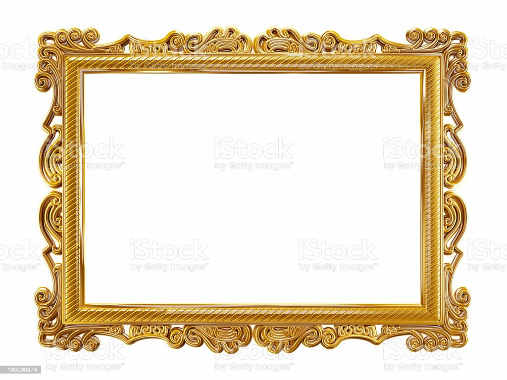 gold picture frame stock photo 185290874 istock. Black Bedroom Furniture Sets. Home Design Ideas