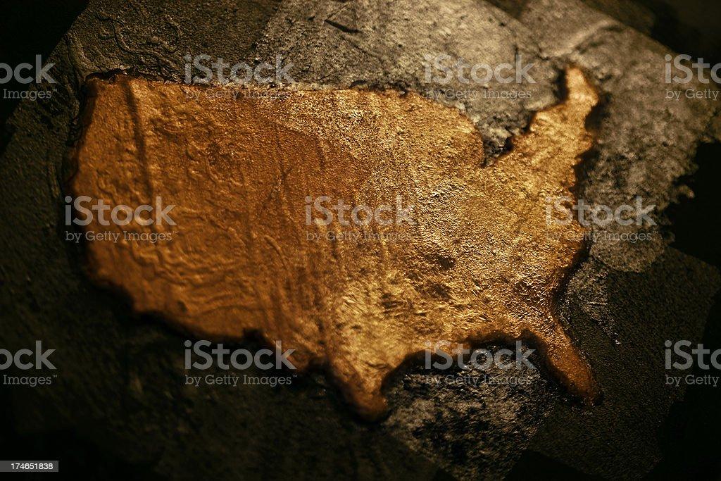 USA Gold stock photo