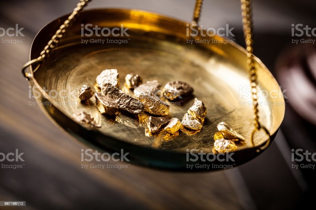 Gold. stock photo