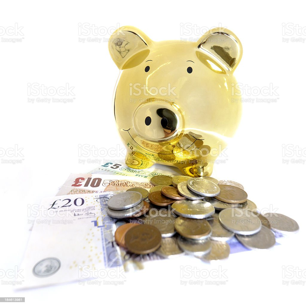 gold piggy bank royalty-free stock photo
