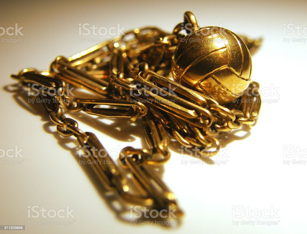 Gold Pile stock photo