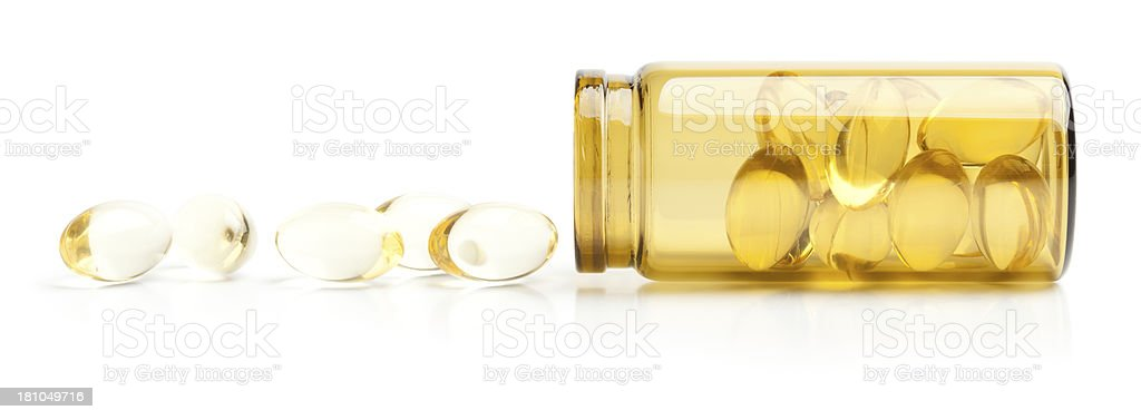 Gold pills royalty-free stock photo