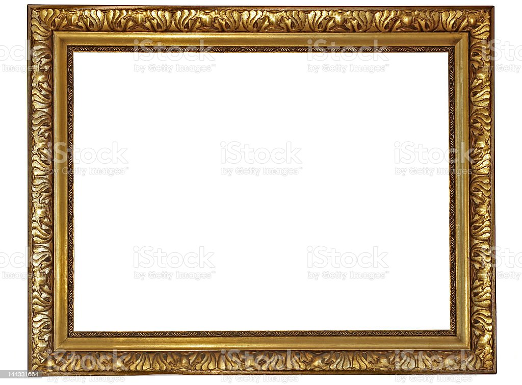 Gold plated wooden picture frame,please see my other frames stock photo