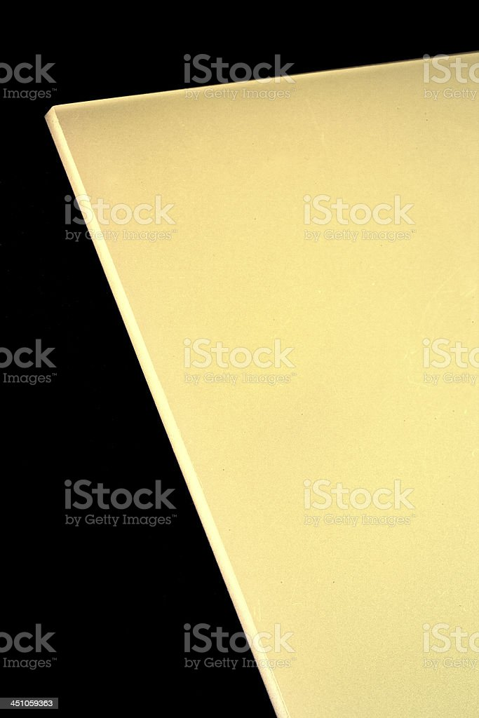 Gold Polycarbonate stock photo
