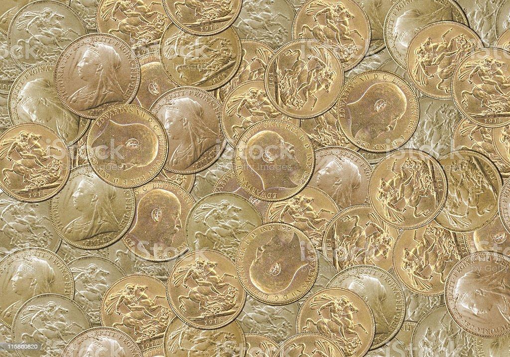Gold pounds background royalty-free stock photo