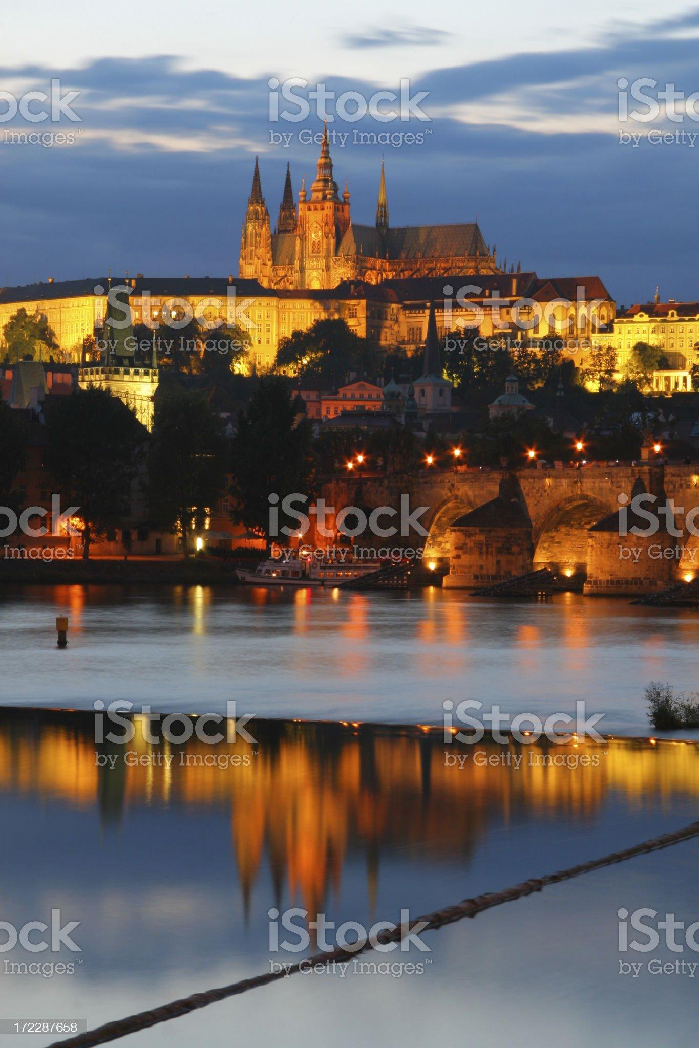 Gold Prag Castle royalty-free stock photo