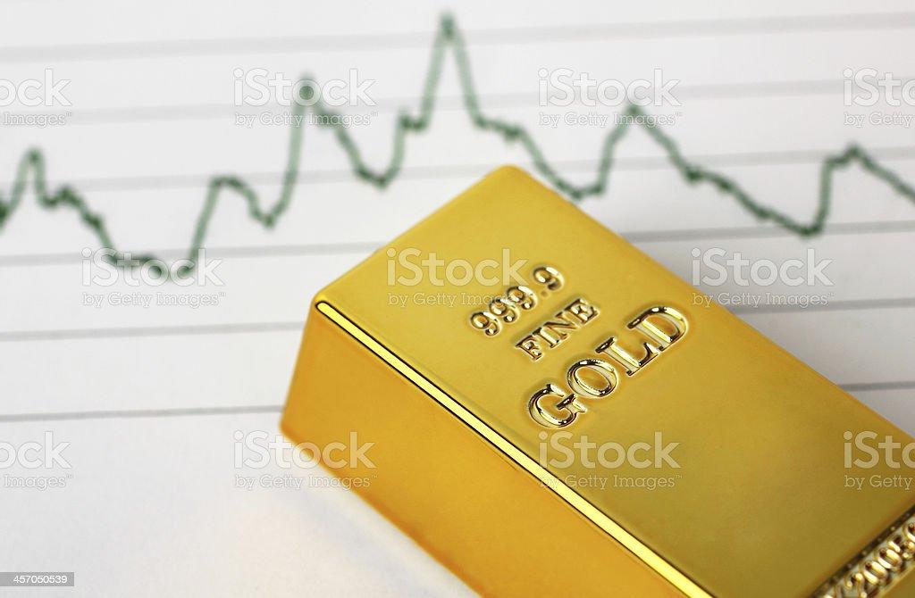 Gold prices stock photo
