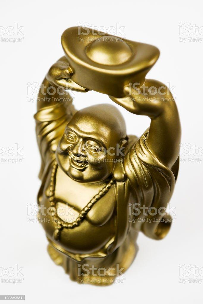 Gold Prosperity Buddha Maitreya royalty-free stock photo