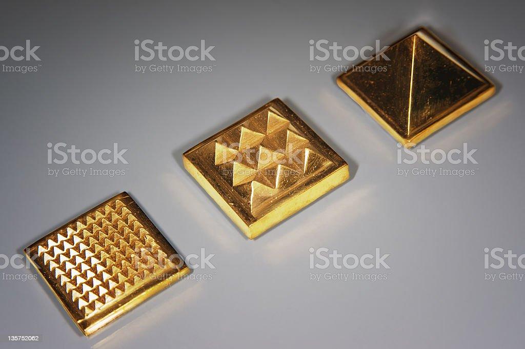 Gold Pyramids stock photo