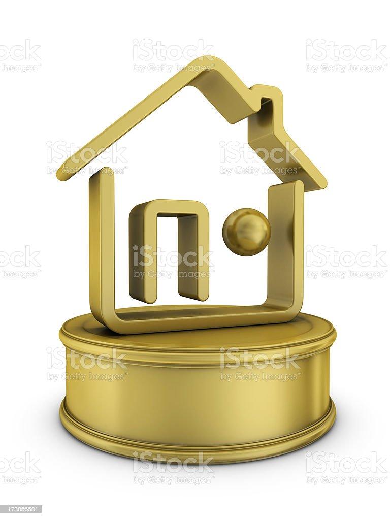 gold real estate award royalty-free stock photo