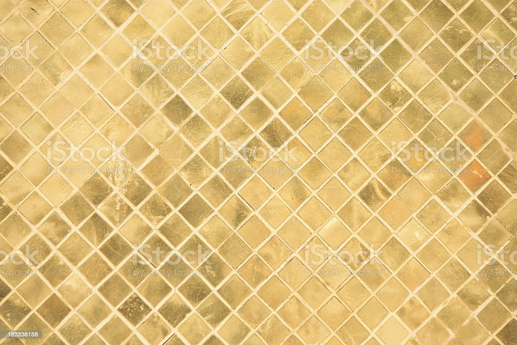 Gold rectangle ornament royalty-free stock photo