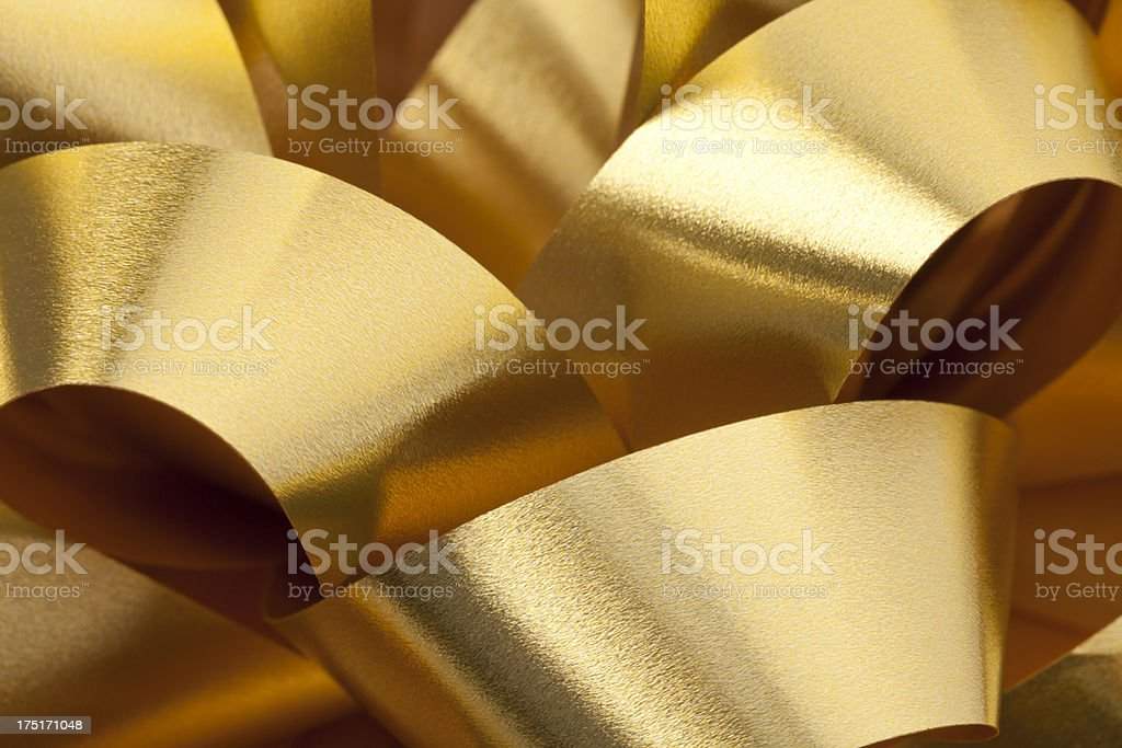 Gold Ribbon Bow Background royalty-free stock photo