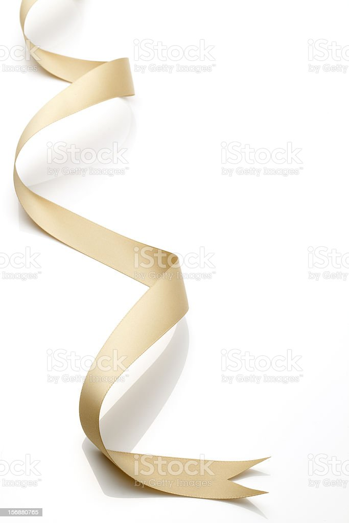 Gold Ribbon stock photo