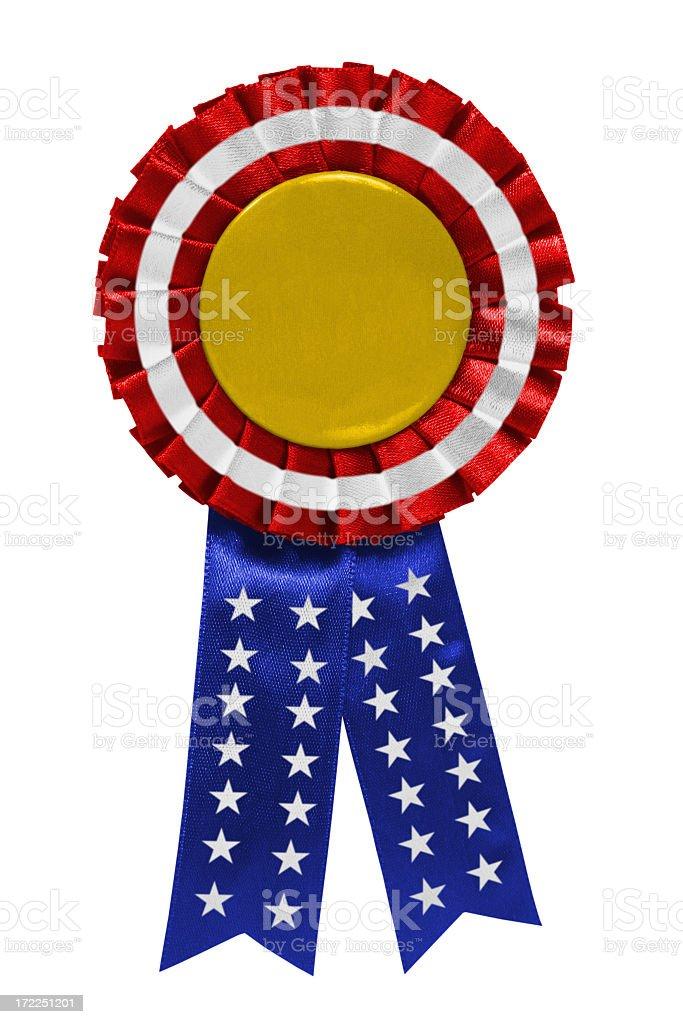 US gold ribbon stock photo