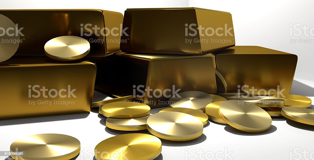 gold rich luxury design 3d render gold stock photo
