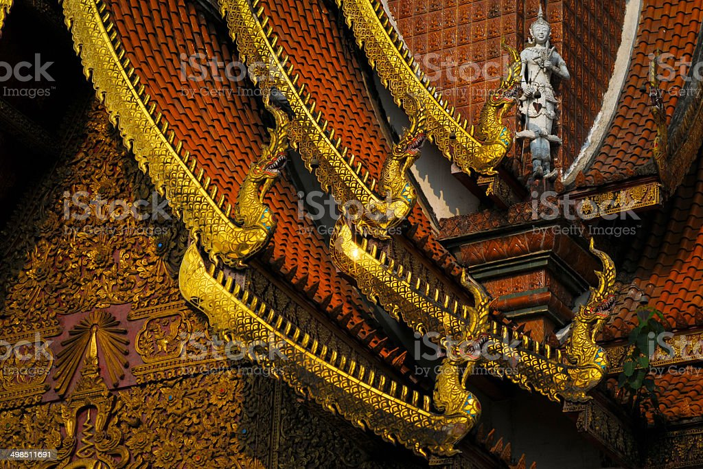 Gold Roof of Thailand Temple stock photo