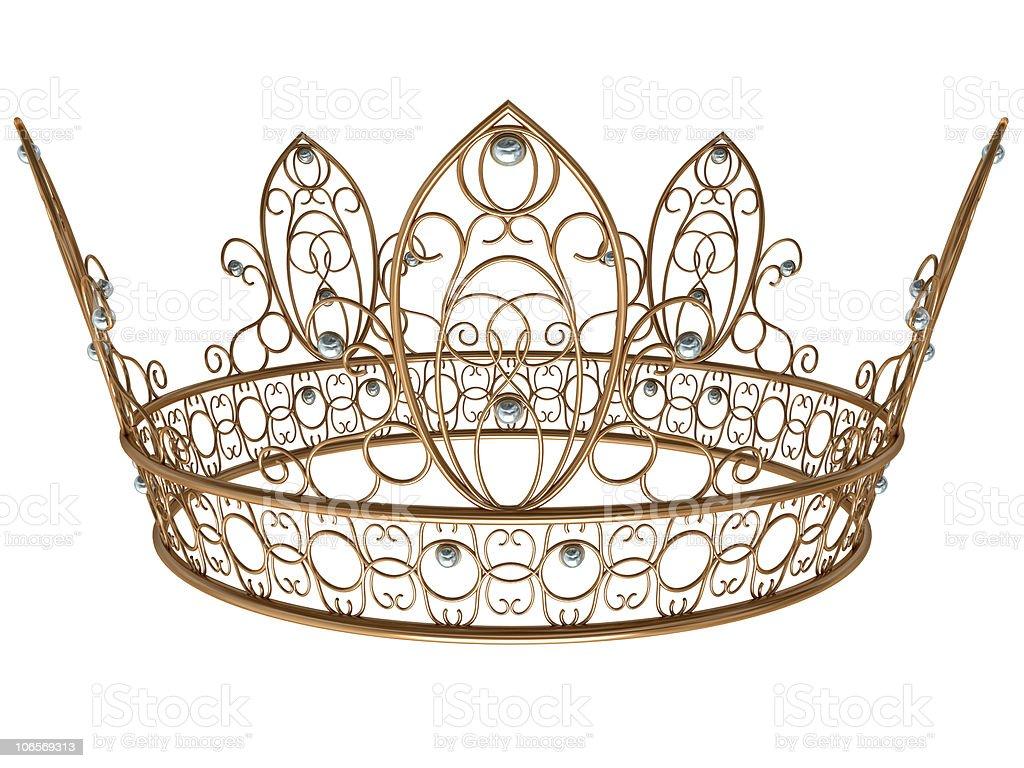 Gold royal crown royalty-free stock photo