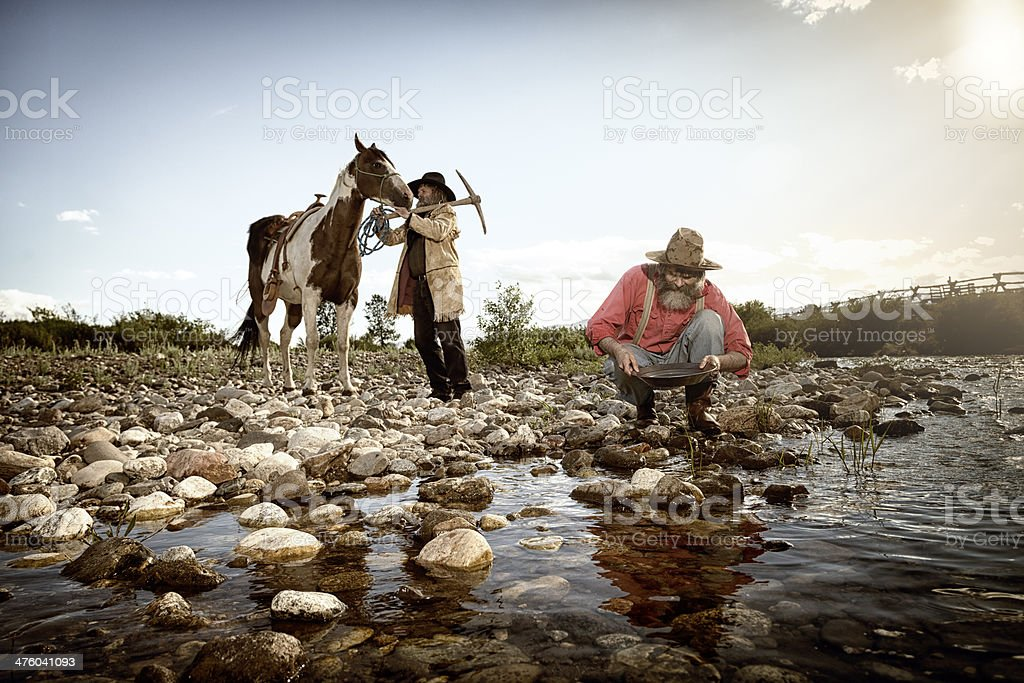 Gold Rush! stock photo
