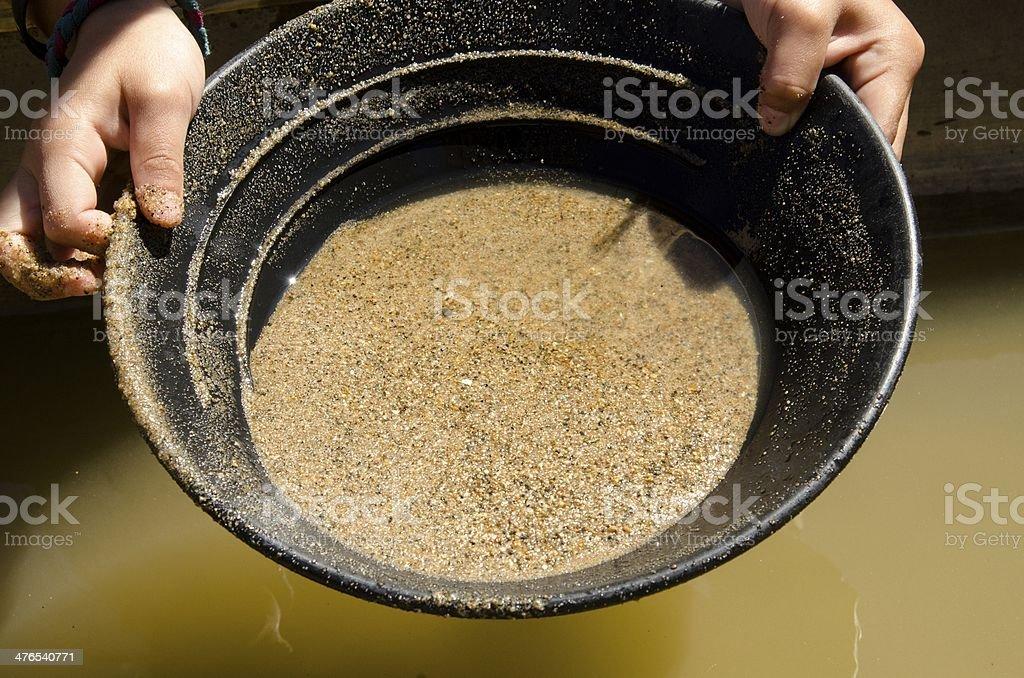 Gold Rush stock photo