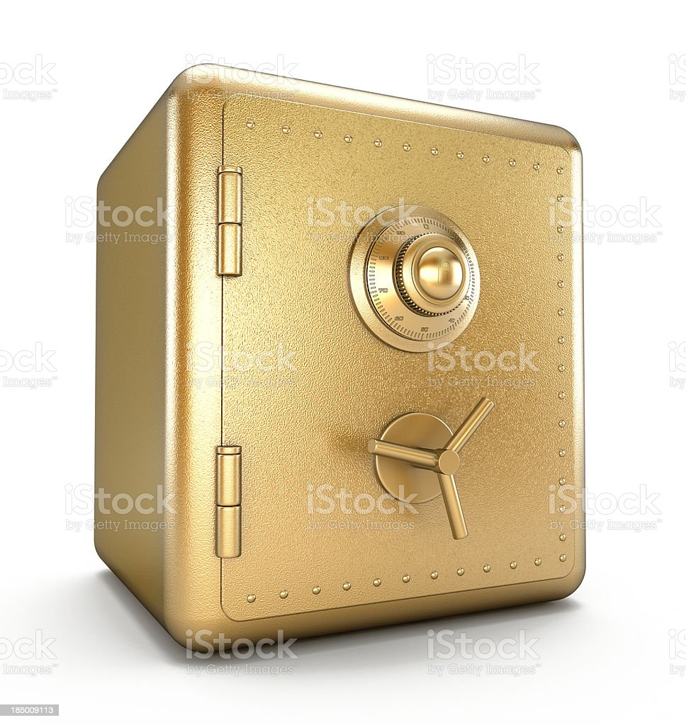 Gold safe stock photo
