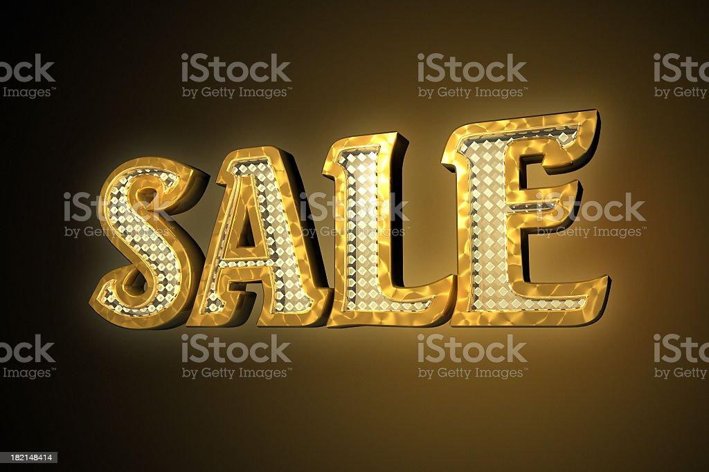 Gold sale stock photo