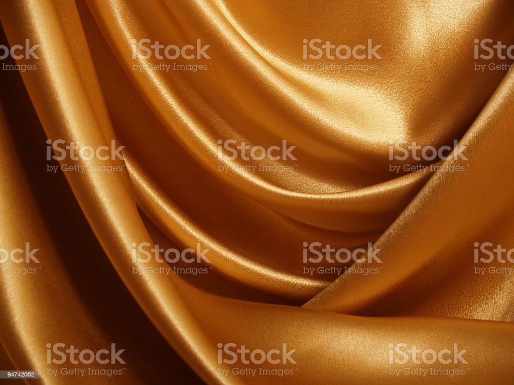 Gold Satin Backdrop stock photo