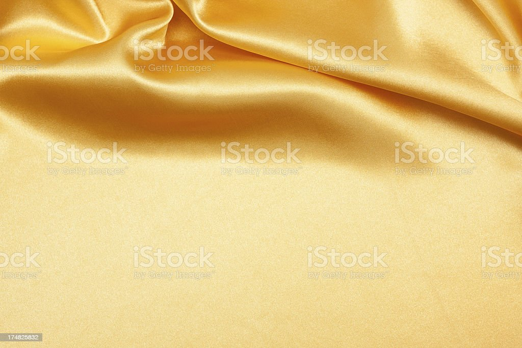 Gold Satin Background texture stock photo