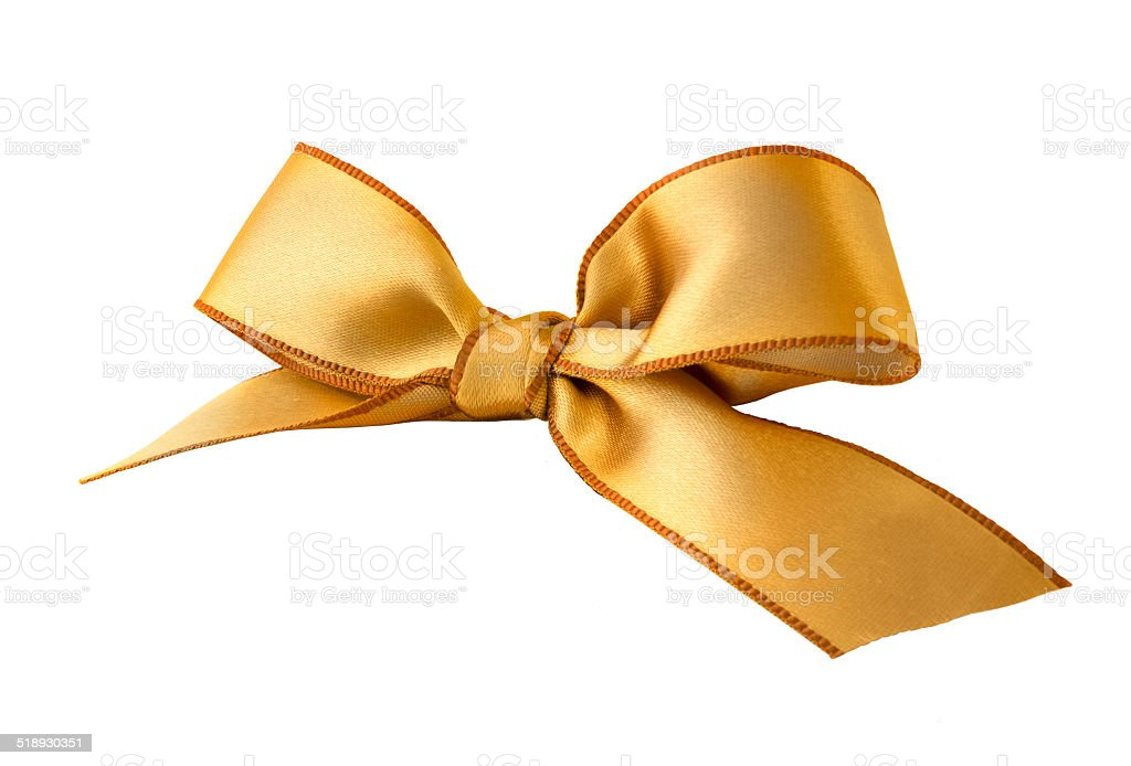 Gold Satin Ribbon stock photo