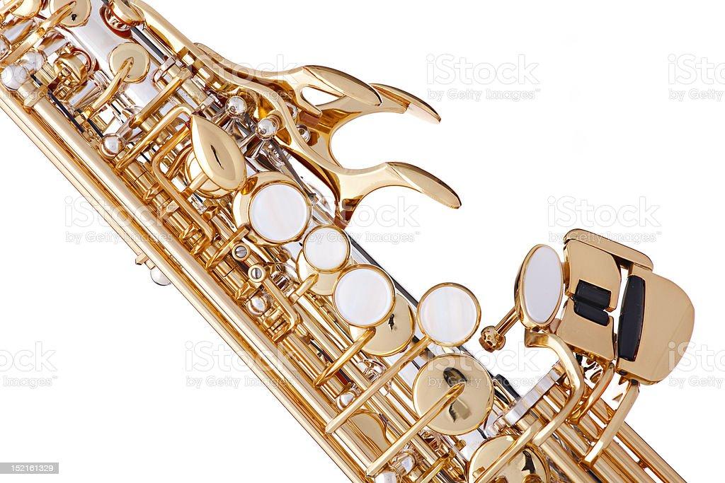 Gold Saxophone Isolated on White stock photo