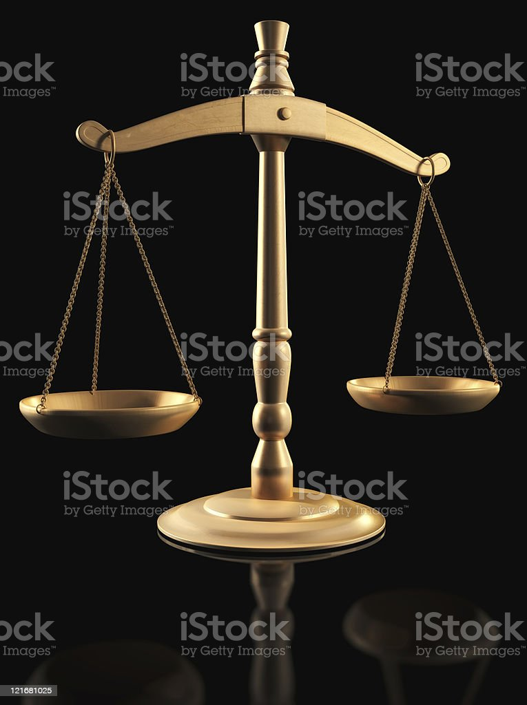 Gold Scales royalty-free stock photo