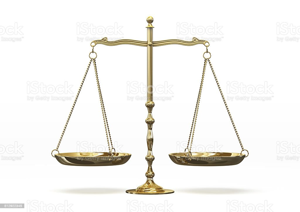 Gold scales stock photo