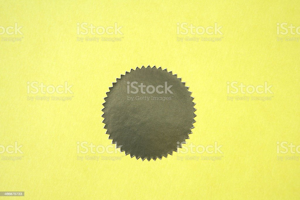 Gold Seal of Approval royalty-free stock photo