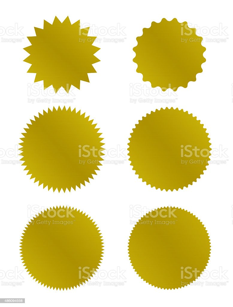 Gold Seal of Approval stock photo