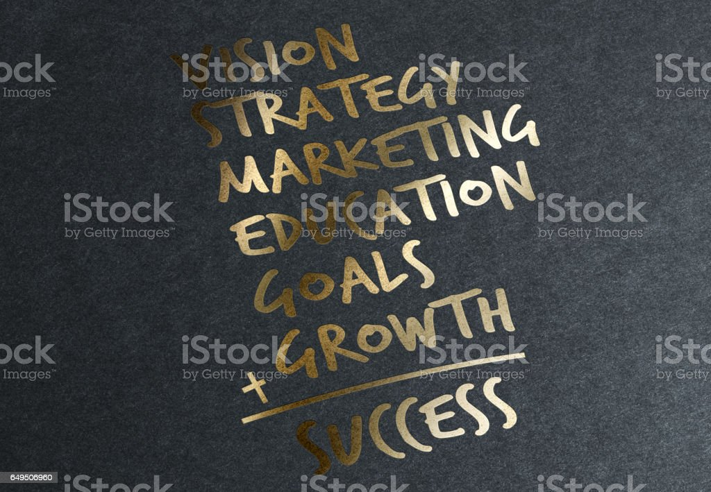 Gold Secrets of Success stock photo
