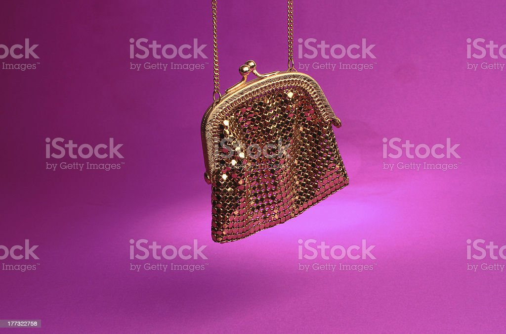 Gold Sequin Purse stock photo