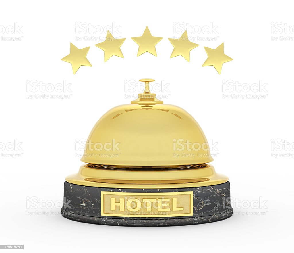 gold service bell for 5 stars hotel royalty-free stock photo