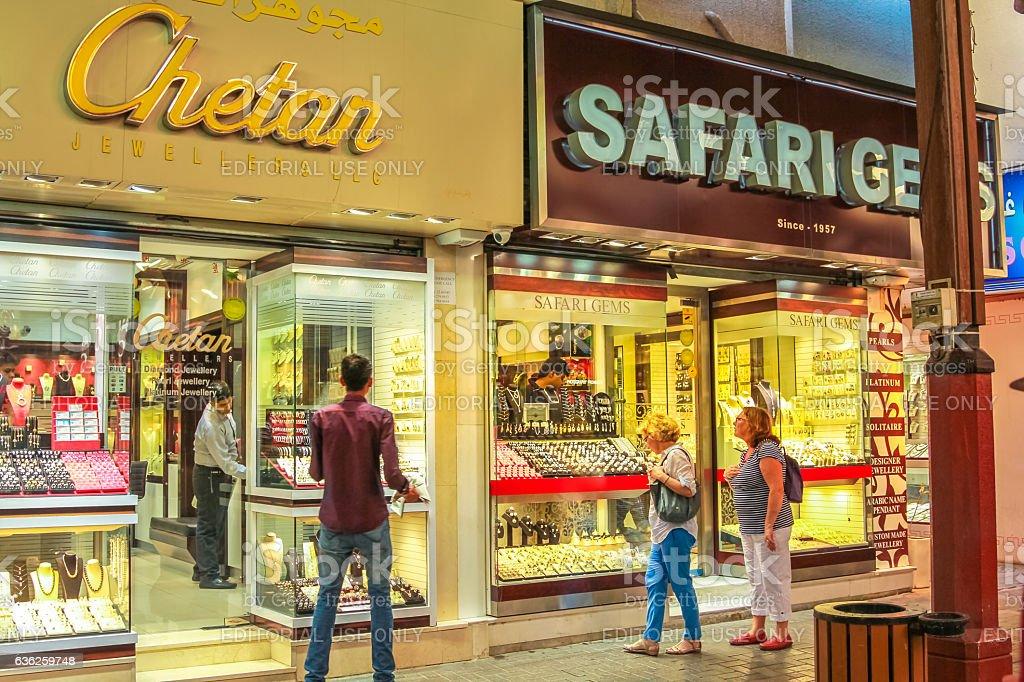 Gold Shop Dubai stock photo