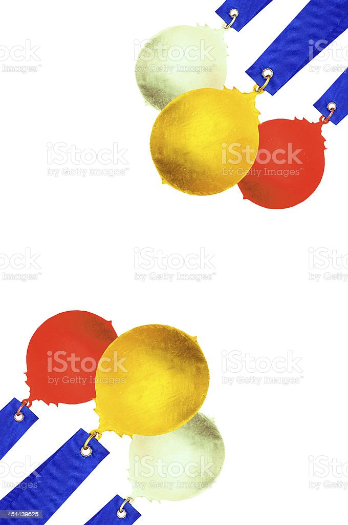 gold silver bronze medal background royalty-free stock photo