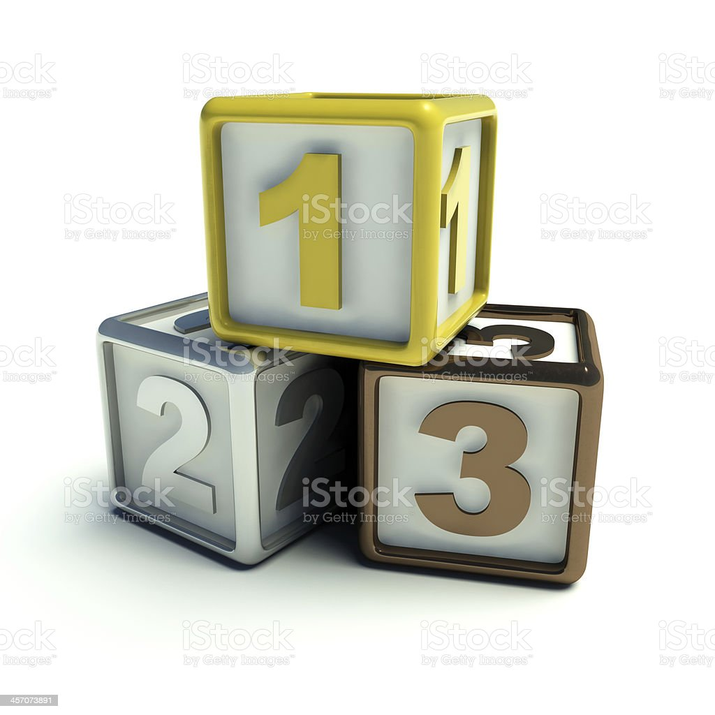 Gold silver bronze royalty-free stock photo