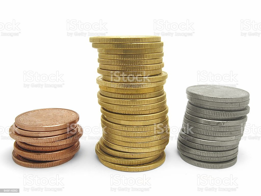 Gold, Silver, Bronze royalty-free stock photo