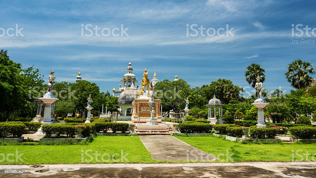 Gold sithata buddha monument stock photo