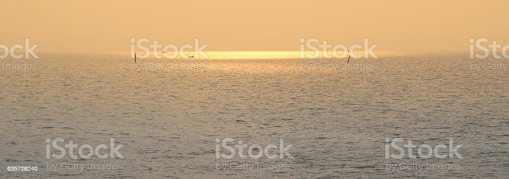 Gold sky stock photo