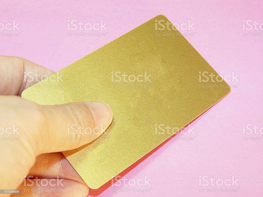 Gold Smart Card / Credit Card / Debt Card royalty-free stock photo