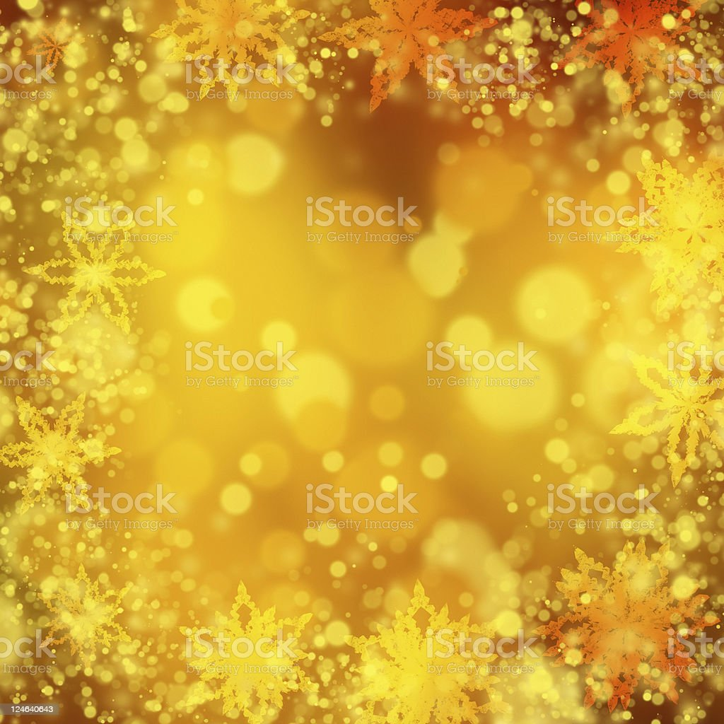 gold snowflake frame background royalty-free stock photo