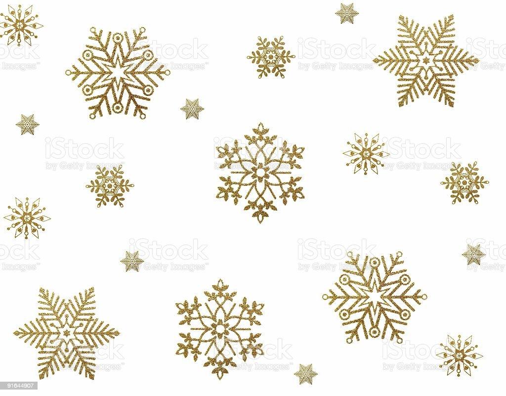Gold snowflakes royalty-free stock photo