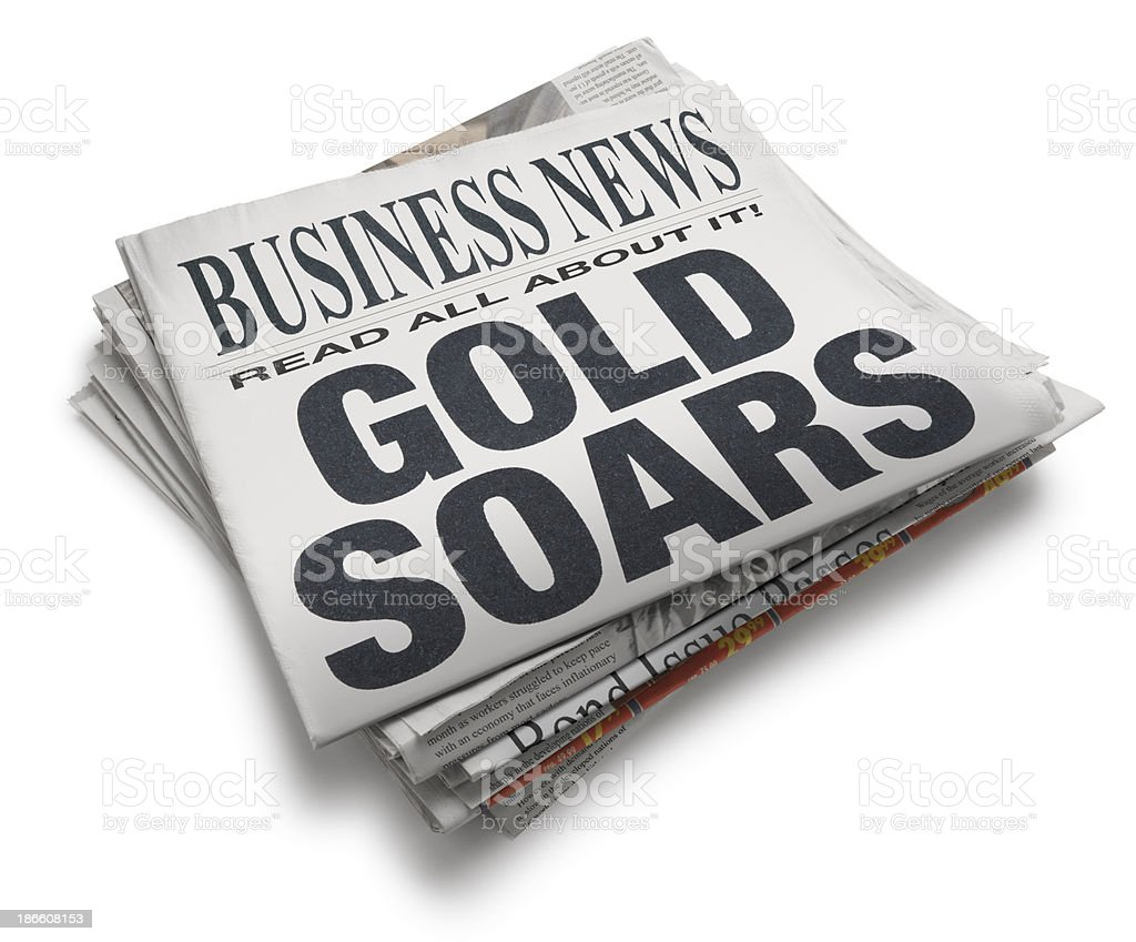Gold Soars royalty-free stock photo