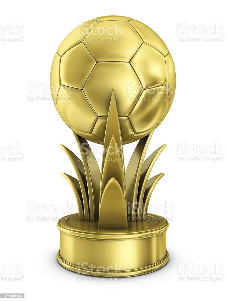 gold soccer award stock photo