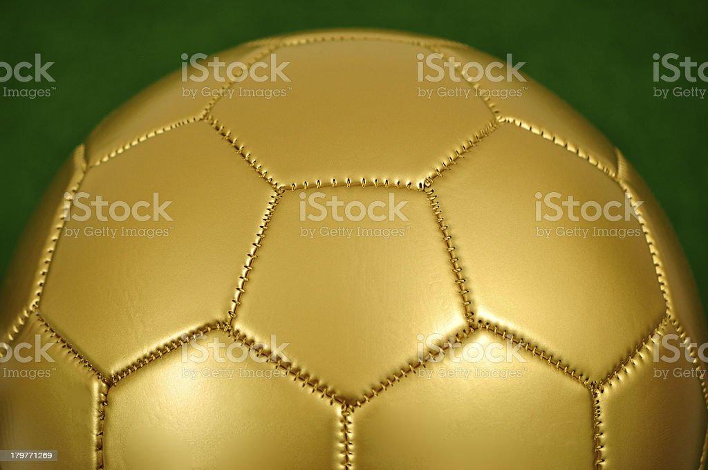 Gold Soccer Ball royalty-free stock photo